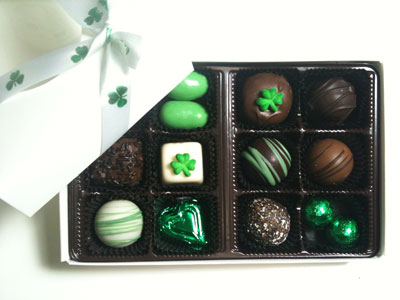 St. Pat's Chocolate Assortment Box of 12