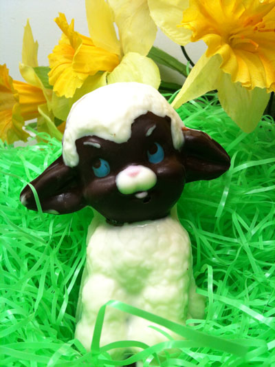 3-D Solid Dark Chocolate Lamb